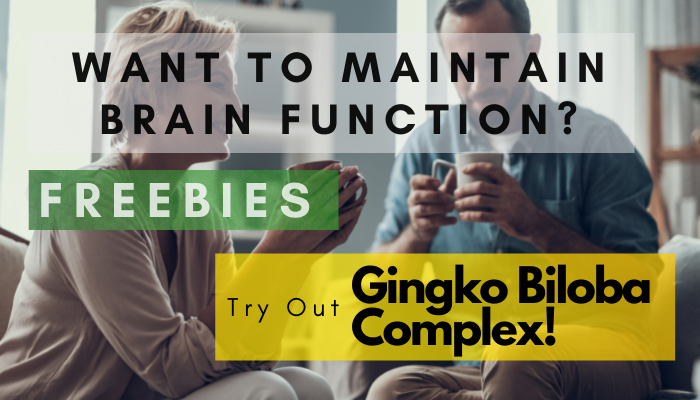 Freebies: Gingko Biloba Complex That Helps To Maintain Brain Function!